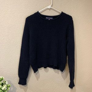Polo sport Ralph Lauren cotton chunky crop sweater